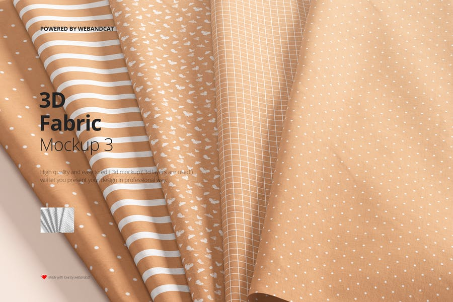 High Quality Cotton Fabrics Mockup