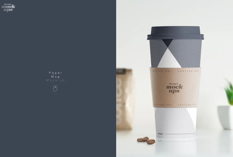High Quality Paper Cup Mockup