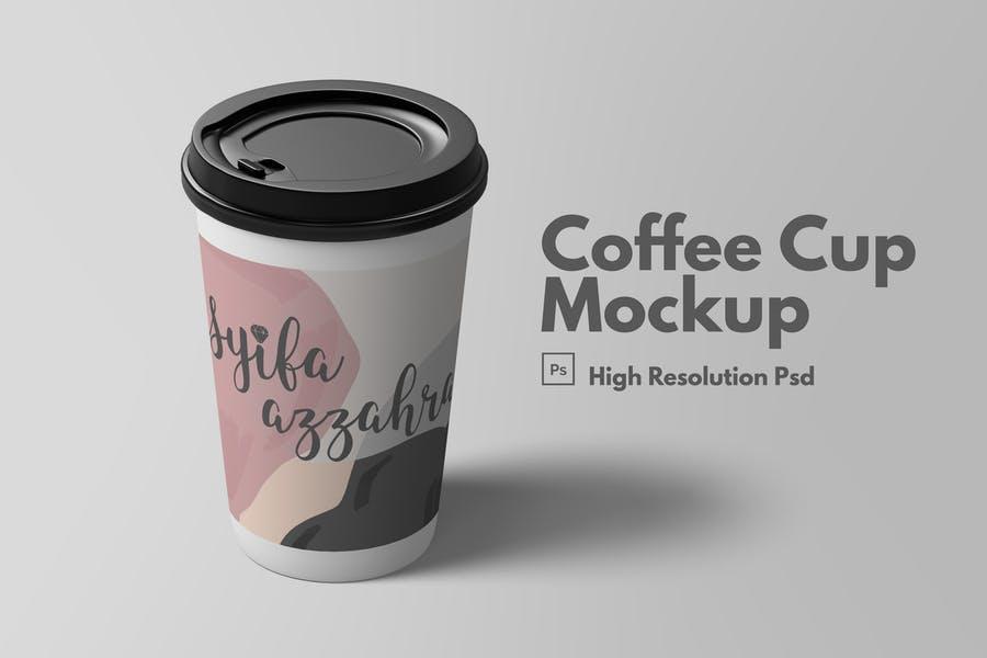 High Resolution Coffee Cup Mockup