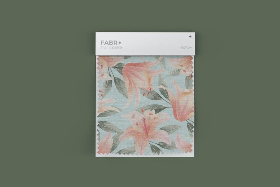 High Resolution Fabric Swatch Mockup