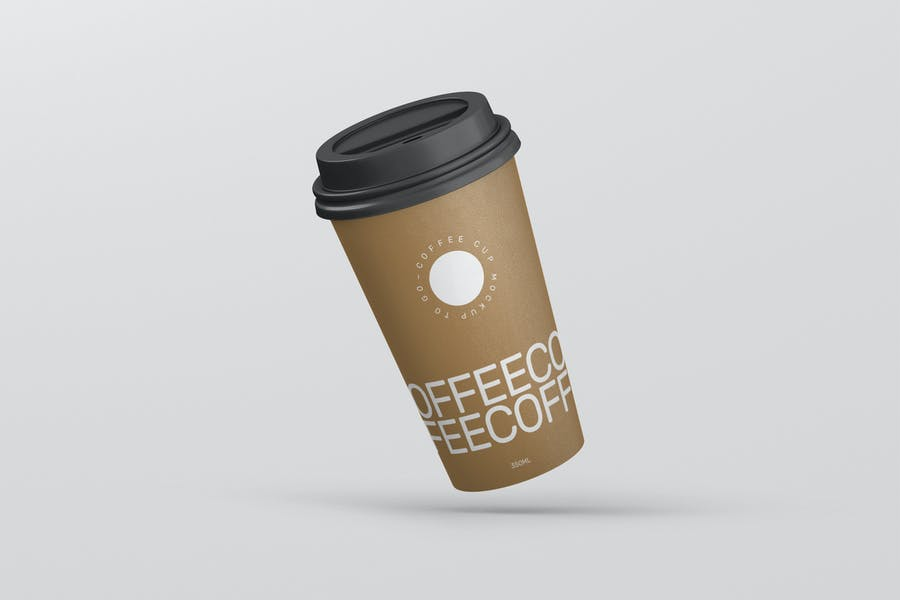 High Resolution Paper Cup Mockup