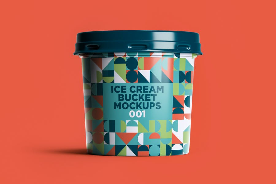 Ice Cream Bucket Mockup