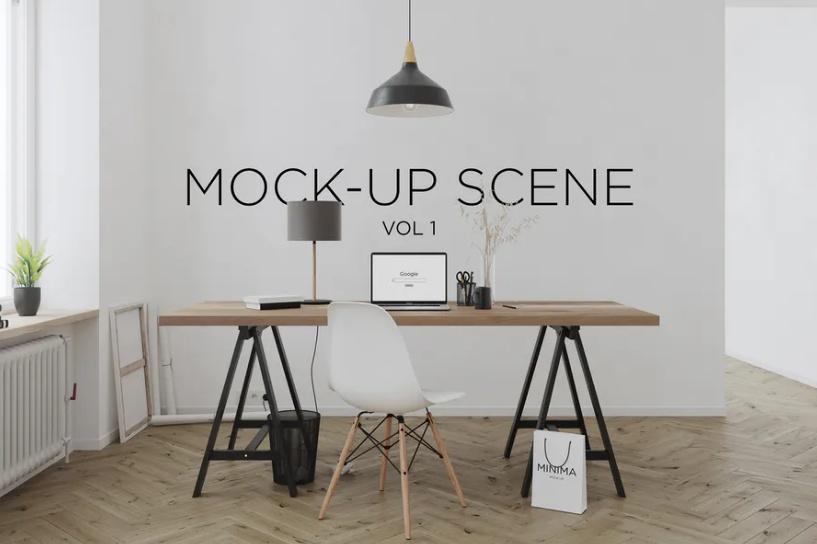 Interior Branding Scene Mockup