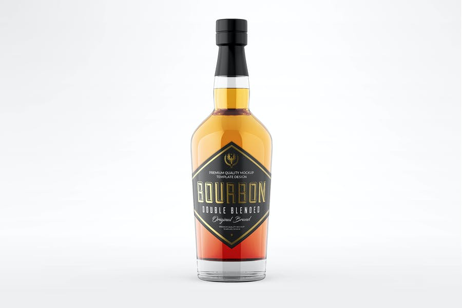 Isolated Alcohol Branding Mockup PSD