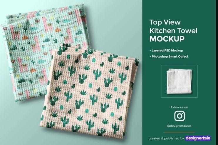 Kitchen Towel PSD Mockup
