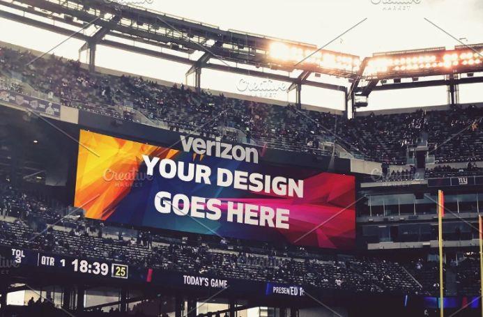 Large Stadium Ad Mockups