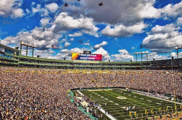 Large Stadium Advert Mockup PSD