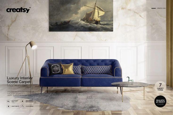 Luxury Interior Carpet Mockup