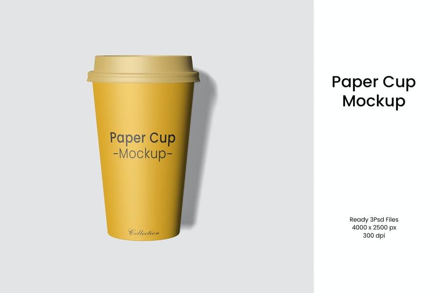 Minimal Paper Cup Mockup