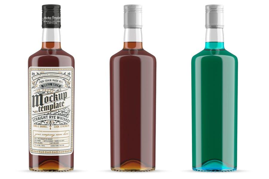 Minimal Whiskey Bottle Mockups