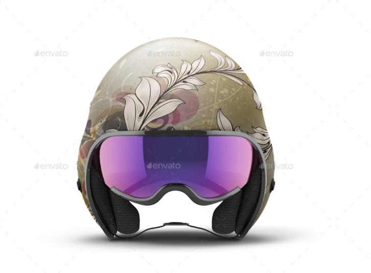 Motorcycle helmet Mockup PSD