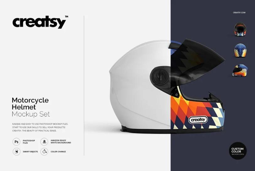 Motorcycle Helmet Mockup Set