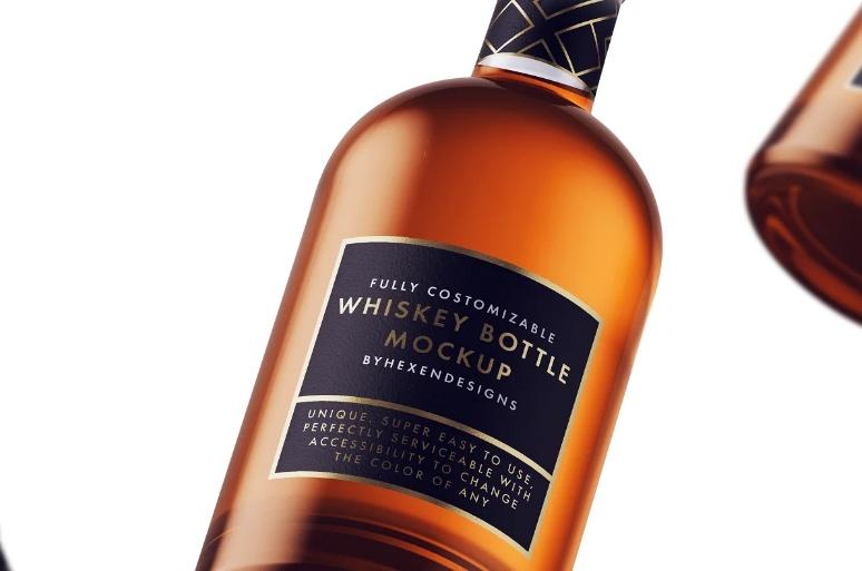 Nordic Whiskey Bottle Mockup