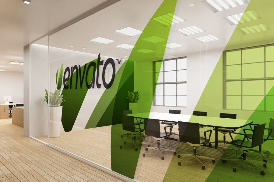 Office Interior Branding Mockup