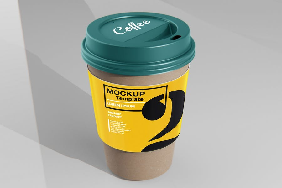 Paper Cup With Sleeve Mockup