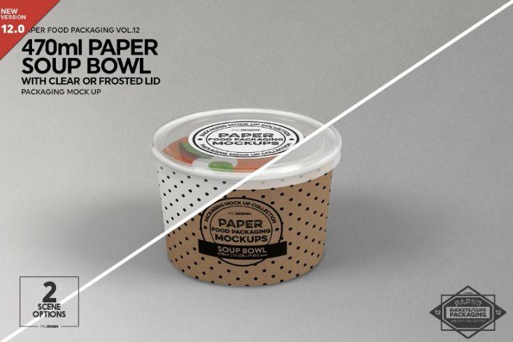 Paper Soup Cup Mockup PSD