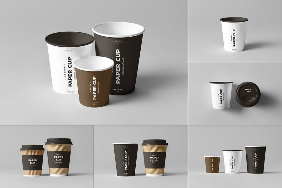 Photorealistic Paper Cup Mockups