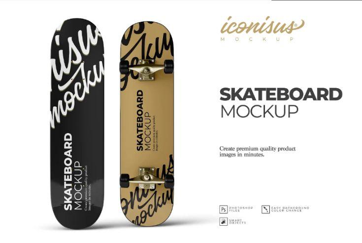 Premium Skateboard Mockup PSD