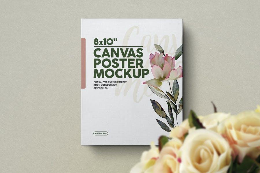 Professional Canvas Poster Mockup
