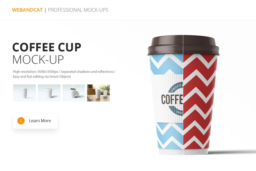 Professional Paper Cup Mockup PSD