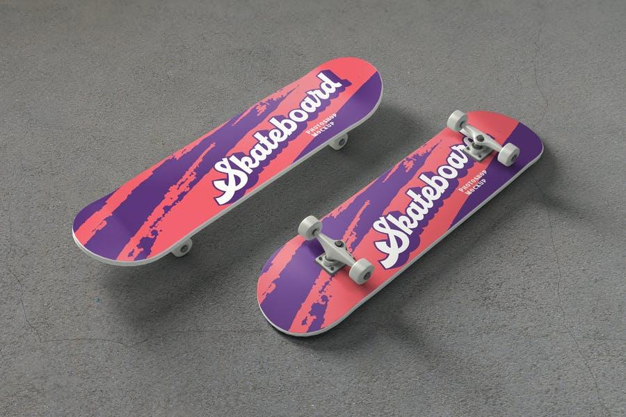 Professional Skateboard Mockup PSD