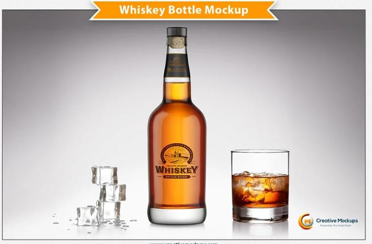 Professional Whiskey Branding Mockup