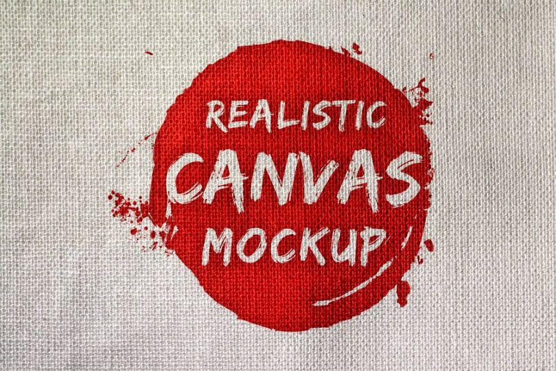 Realistic Canvas Mockup PSD