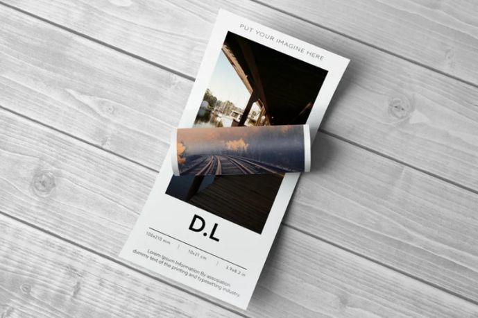 Realistic DL Flyer on Floor Mockup