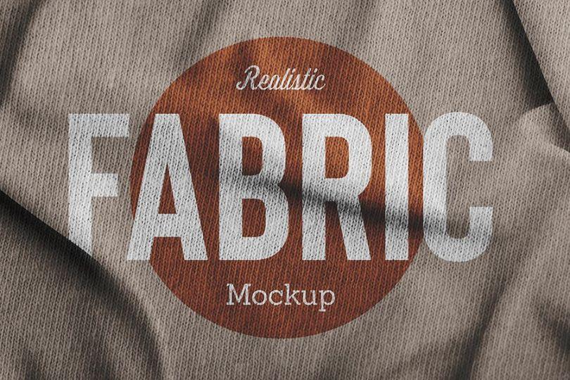 Realistic Fabric Mockup PSD