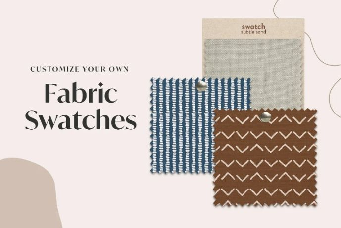 Realistic Fabric Swatches Mockup PSD