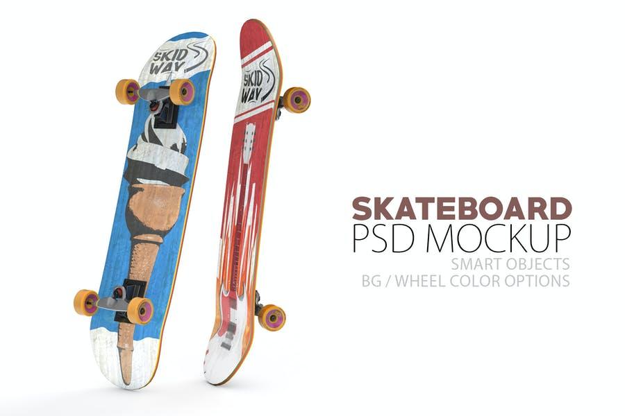 Realistic Skateboards Mockup