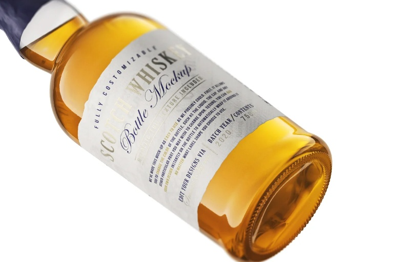 Scotch Bottle Branding Mockup