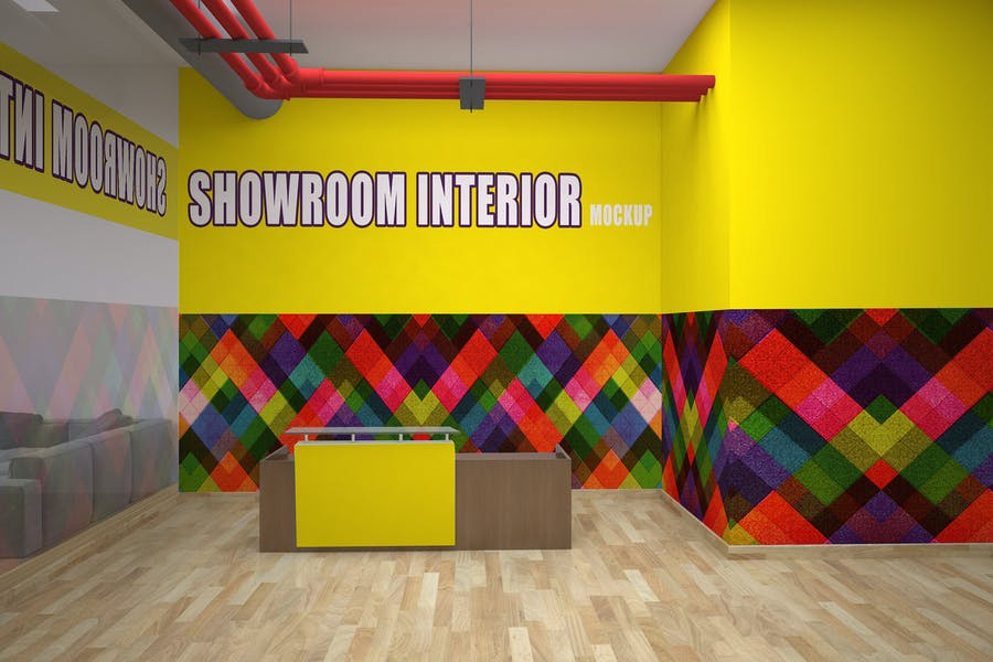 Showroom Interior Mockup PSD