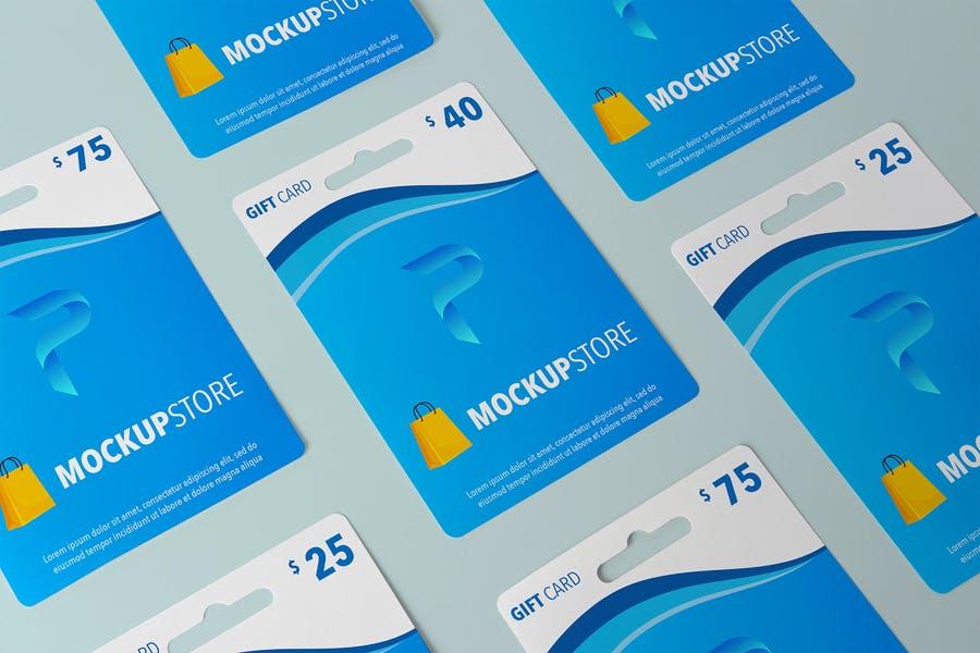 Simple Gift Card Mockup PSD