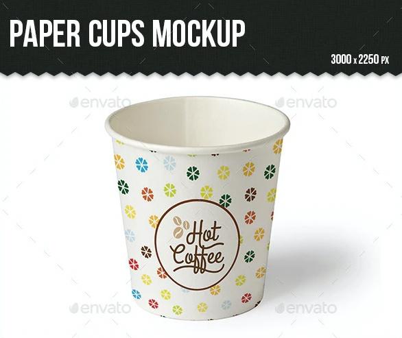 Simple Paper Cup Branding Mockup