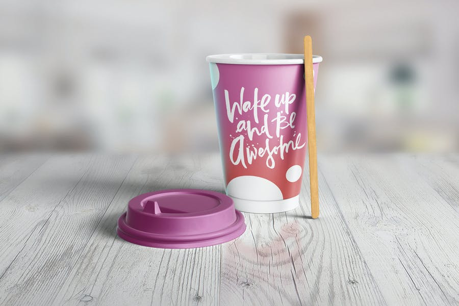 Simple Paper Cup Mockup PSD