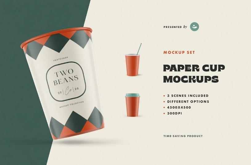 Simple Paper Cup Mockup Set