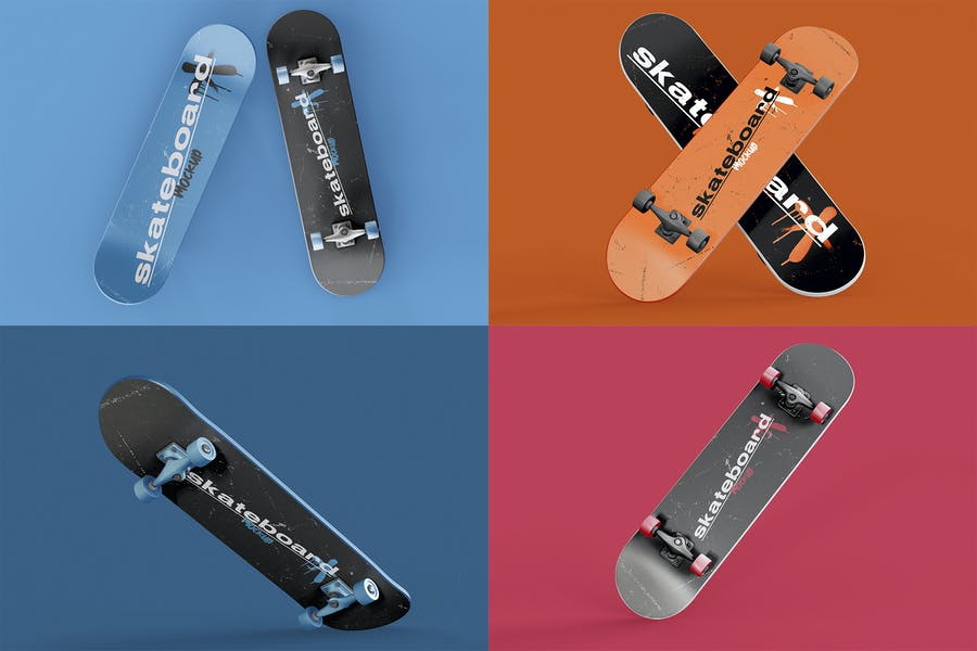Skateboards Mockup Set