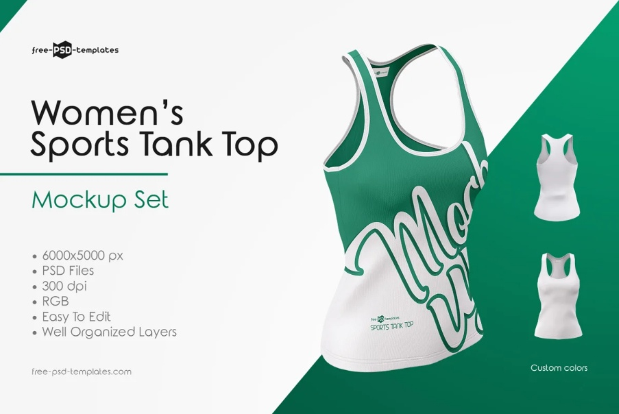 Sports Tank Top Mockup