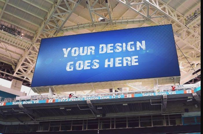 Stadium Screen Ad Mockup