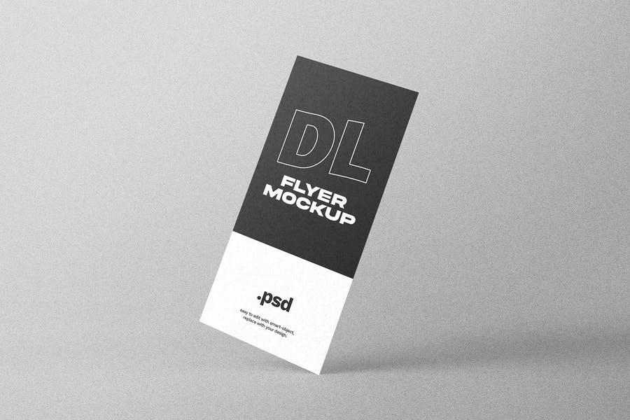 Standing DL Flyer PSD Mockup