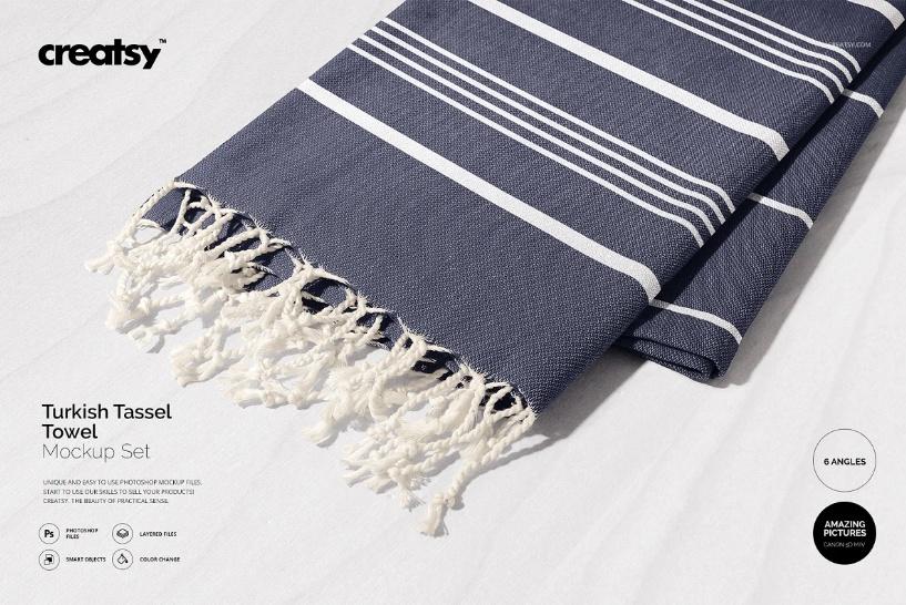 Turkish Towel Mockup PSD