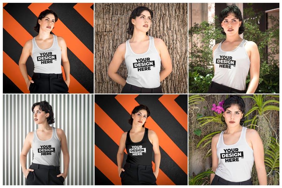 Women Tank Top Mockup