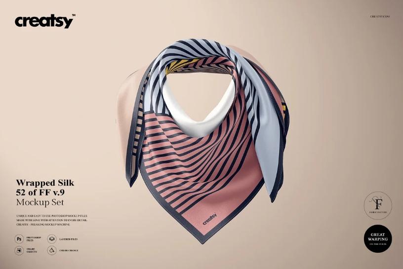 Wrapped Scaf Design Mockup
