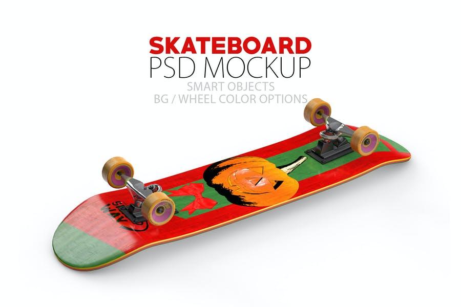 layered Skateboard Mockup PSD
