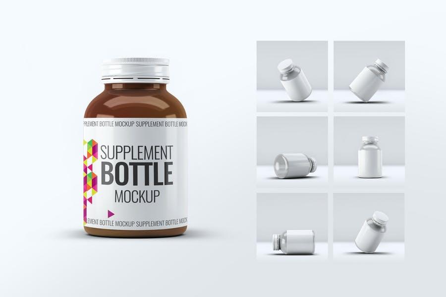 6 Photo Realistic Supplements Mockups