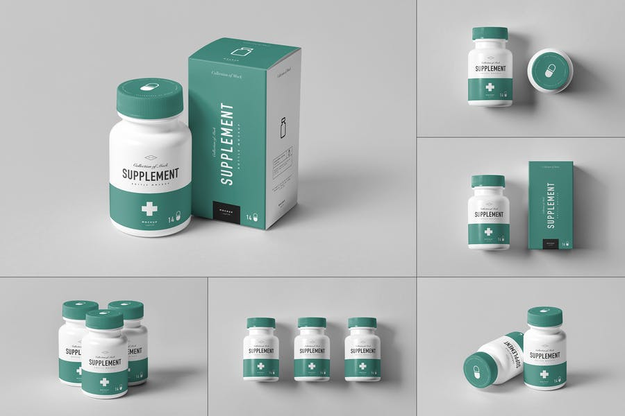 Professional Supplements Branding Mockup
