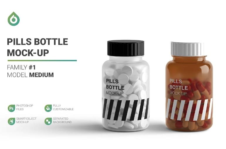 Professional Supplements PSD Mockup