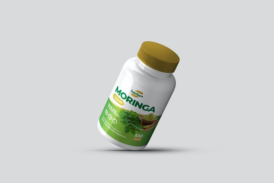 Realistic Supplements Mockup PSD