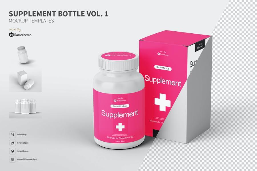 Supplement Branding Mockup PSD
